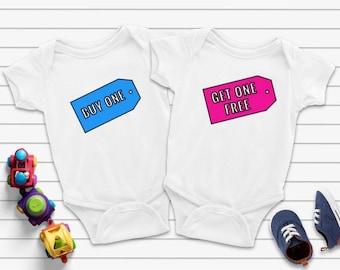 BOGO Free Matching Twin Bodysuits, Buy One Get One Twin Bodysuits, Twins Baby Gift, Twins Gift, BOGO