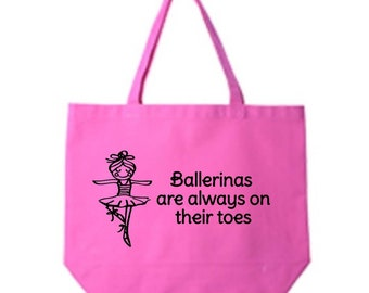 Dance Class Tote Bag, Ballerina Canvas Tote Bag, Tote Bag, Dance Class Bag, Ballerina Bag, Tote Bag, Custom Tote Bag, Tote Bag Personalized