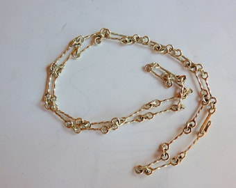 "Handmade chain, 24"", Sterling Silver,by  Gulf Jewels; SaltSpring Island BC;"