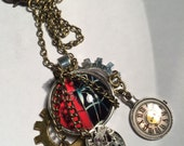 STEAMPUNK  (Spider Time) Pendant