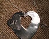 Sterling Silver Butterfly Heart Pendant in moths in bungay