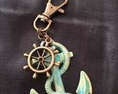 STEAMPUNK (Anchor) Keyring or Handbag Clip