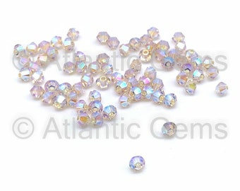 Czech Glass Hint of Yellow Opal 6mm Lucerna Smooth Bicone Beads 25 Monkeyshine Beads Economical Spacer Beads Opaque