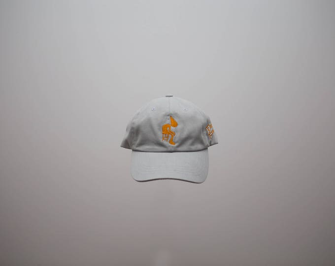 Gray dad hat cotton embroidered logo