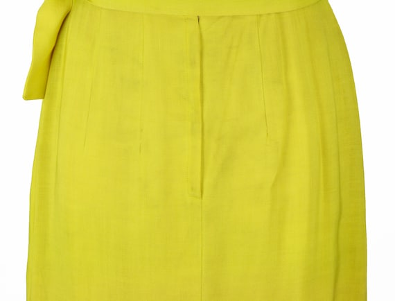 Vintage 1950s Bright Yellow Wiggle Dress Size XS - image 9