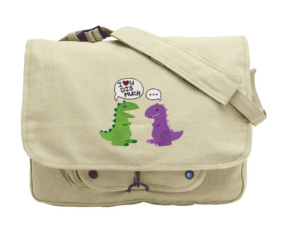 You Are My Anchor Embroidered Canvas Messenger Bag