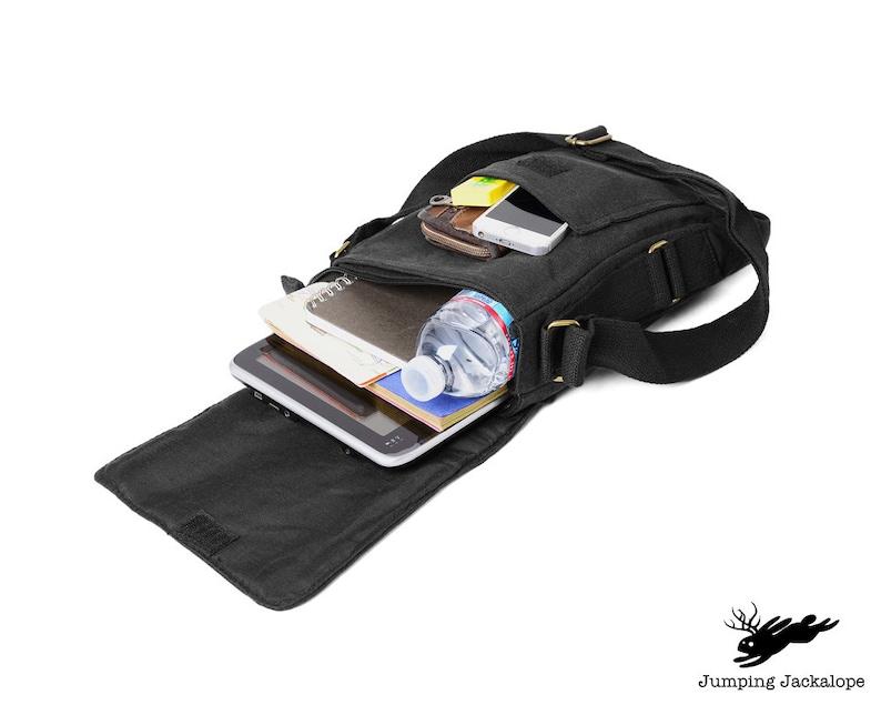 Click Camera Embroidered Canvas Tech Bag