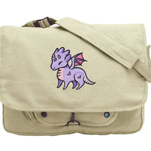 Charmed Creatures Sea Dragon Embroidered Canvas Field Bag