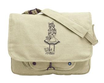 Oz - Dorothy Embroidered Canvas Messenger Bag
