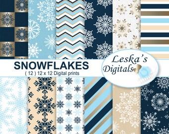 Fiocchi Di Neve Di Carta Modelli : Congelati carta digitale frozen scrapbook paper etsy