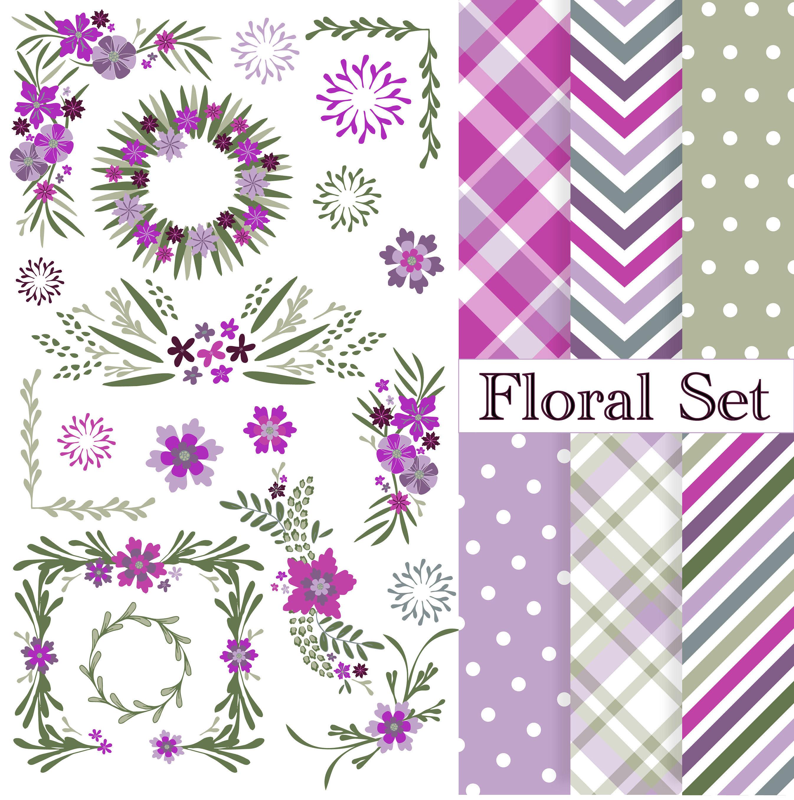 Floral Cliparts hochzeitscliparts floral Ränder und Rahmen