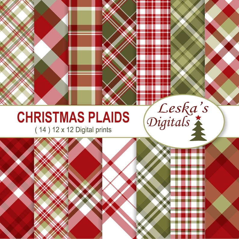image relating to Christmas Printable Paper titled Xmas Plaids Electronic Paper Pack, Xmas Electronic Sbook Papers, sbook paper, Xmas sbook, Xmas printable, Holiday vacation