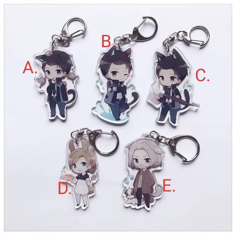 Detroit: Become Human DBH Transparent Acrylic Keychain Decoration Display  Charms Kara Connor Hank Anderson