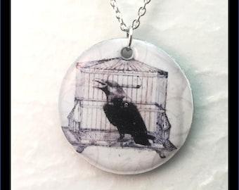 Washer Necklace/Pendant: Raven