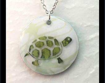 Washer Necklace/Pendant: Turtle