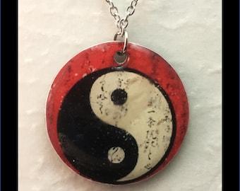 Washer Necklace/Pendant: YinYang