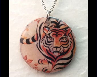 Washer Necklace/Pendant: Tiger