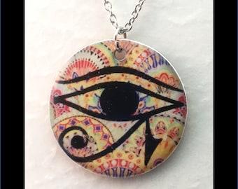 Washer Necklace/Pendant: Eye of Horace
