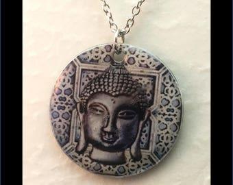 Washer Necklace/Pendant: Buddha