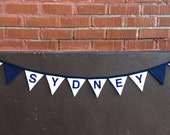 Items similar to Summer camp name banner flags - for cabin bunks and