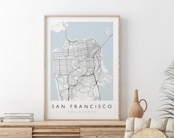 SAN FRANCISCO MAP - California City Map Print - San Francisco Map Print - Travel Print - City Print - Travel Poster - Minimalist Poster