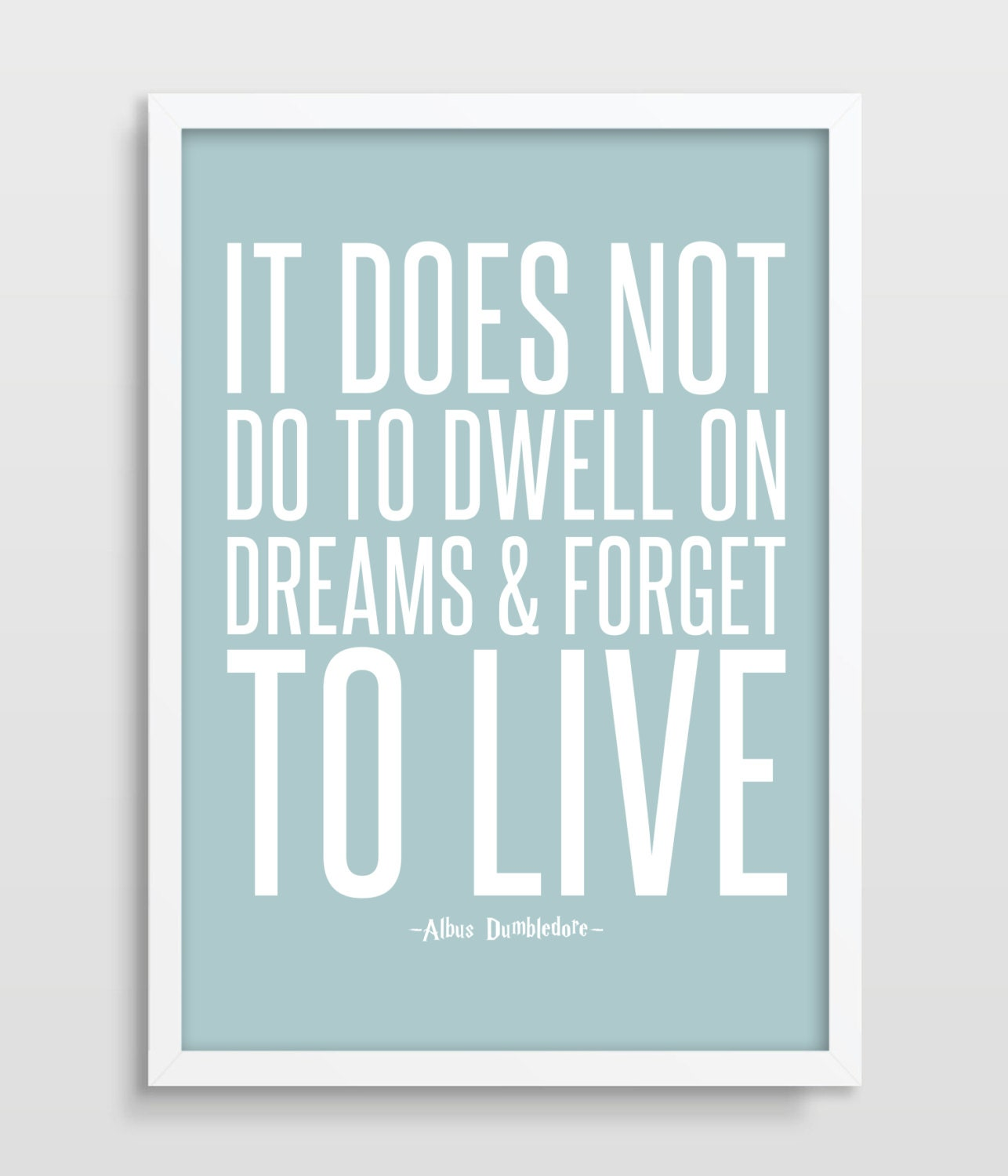 Harry Potter Inspirational Quotes: Inspirational Quote Typographic Print Harry Potter Quote