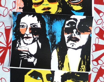 Screen Printed Postcards - Pack of Three - 'Snapshots' - Signed Limited Edition Mel Sheppard Prints