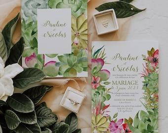 SUCCULENTES, Printable Wedding invitation, Greenery Wedding Invitation, Succulent Wedding Invitation, Bohemian Wedding invitation