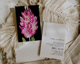 BLOOMY WILD, Brunch Invitation, Brunch Invitation template, Brunch Invite editable, Floral Wedding Invite, Greenery Brunch Wedding Invite