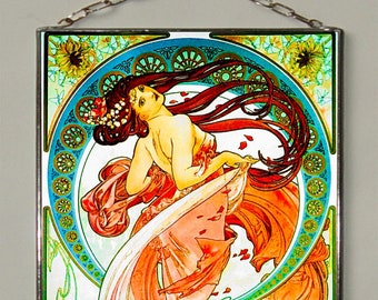 Alphonse Mucha.The Arts.Dance.Stained glass