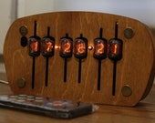 Nixie tube clock || include IN-17 tubes and plywood enclosure  Steampunk Edison Bulb Nixie Tubes Desk Calendar Steampunk Shelves USB 5V