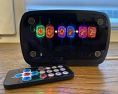 Nixie tube clock with motion sensor || include IN-17 tubes with enclosure and fully assembled with handmade retro alarm Vintage Tube Clock