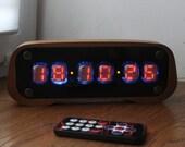 Assembled numitron clock IV-19 VFD Nixie era Arduino Steampunk Retro Cyberpunk watch art decoration holyday gift birthday ussr