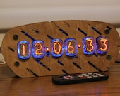 Nixie tube clock || include IN-12 tubes with enclosure || old school combined with handmade retro decor art || Vintage Table Clock