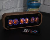 vintage tube clock || include IN-12 nixie tubes with housing || Home Decor Idea, Fathers Day Gift || Vintage Table Clock