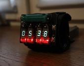 vfd wrist watch clock steam punk portable metro style date month temperature display iv-3 (iv-8) vfd nixie tube nixie era