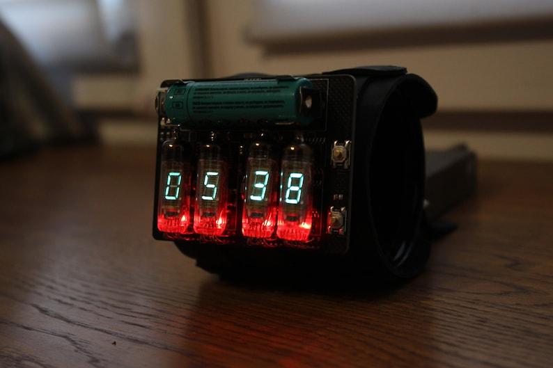 vfd wrist watch clock steam punk portable metro style date image 0