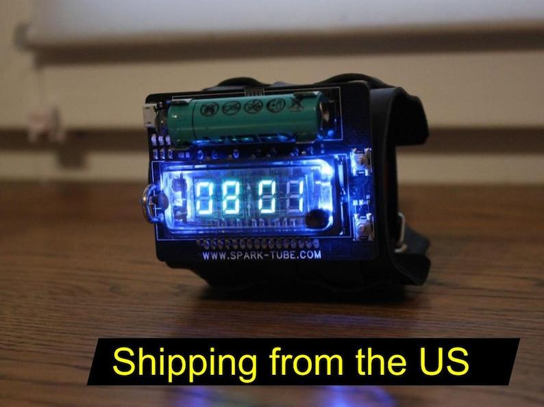 nixie era vfd wrist watch clock steam punk portable IVL2-7/5 image 0