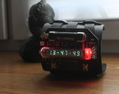 IV-21 steam punk watch nixie era vfd wrist clock portable unique with seconds  temperature and date calendar