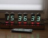 Assembled vfd clock IV-11 Nixie tube clock Steampunk Retro Cyberpunk clock art decoration holyday gift birthday ussr desk clock
