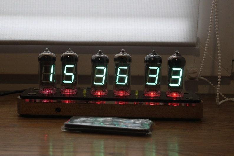 Assembled vfd clock IV-11 Nixie tube clock Steampunk Retro image 0