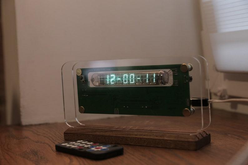 Assembled IV-18 VFD Nixie era Arduino Steampunk style watch levitation stand