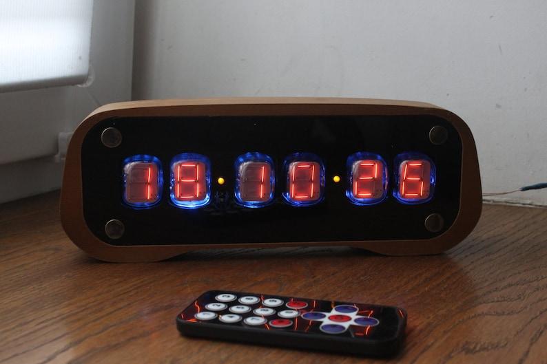 Assembled numitron clock IV-19 VFD Nixie era Arduino Steampunk Elegance