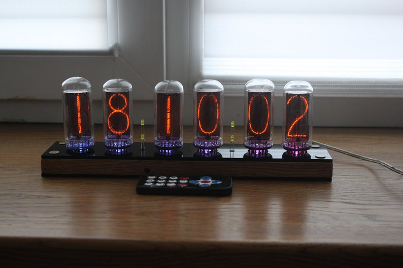 Nixie tube clock  with biggest USSR tubes IN-18  fine 5 image 0