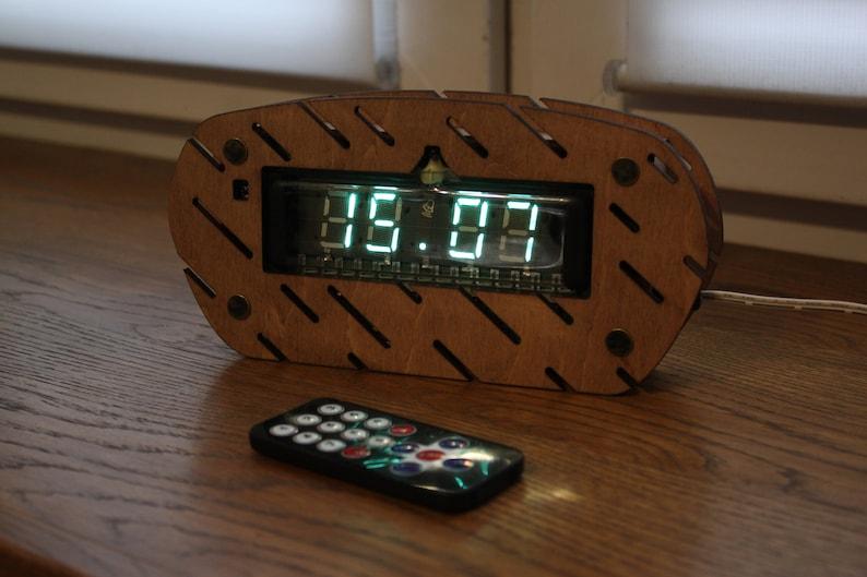 Assembled Ivl1-7/5 or ILC4-5/7 Vfd Clock Watch With Ussr Tubes Oblique lines
