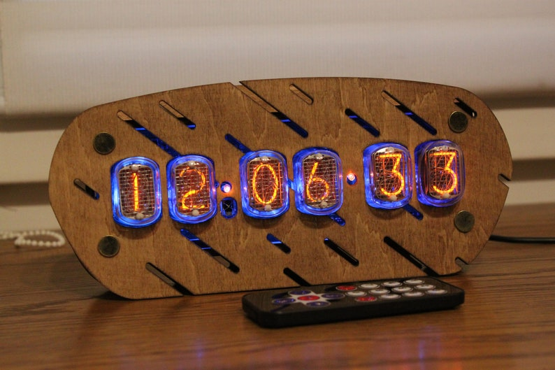 Nixie tube clock  include IN-12 tubes with enclosure  old image 0