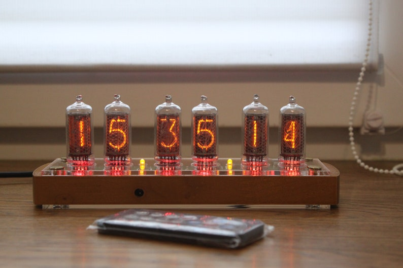 Nixie tube clock with IN-8-2 tubes fine 5 not up side down image 0