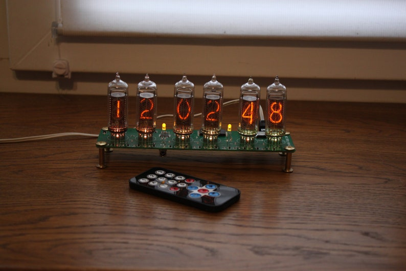 Nixie tube clock  include IN-14 tubes and case  old school image 0