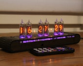 Nixie tube clock || include IN-16 tubes and handmade enclosure housing  || old school combined with handmade retro || custom date codes