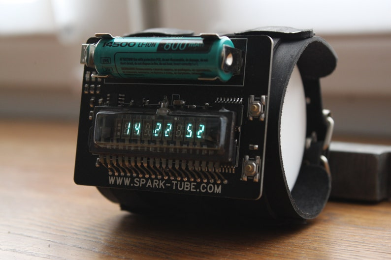 nixie era vfd wrist watch clock steam punk portable unique image 0